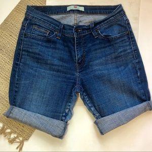 Levi's Bermuda style cutoff jean shorts sz 12
